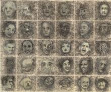 100 faces detail
