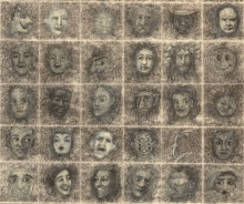100 faces, detail