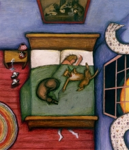 tibby and her dogs, detail
